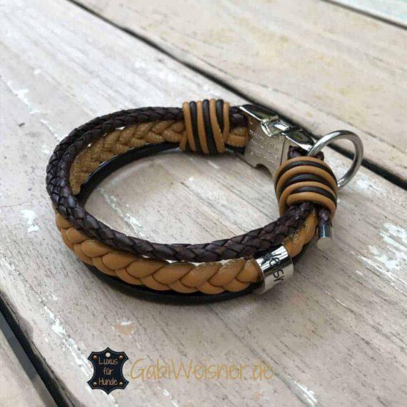 Lederhalsband für kleine Hunde