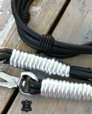 luxus-hundeleine-leder-rundgenaht-doppelstrang-schwarz-silber-3