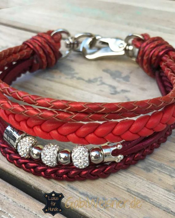 Hundehalsband in rot