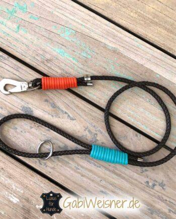 Hundeleine Nappaleder rund geflochten 6 mm, 8 mm