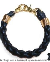 hundehalsband-leder-rund-dunkelblau-gold-vintage