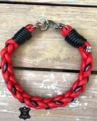 hundehalsband-rund-geflochten-leder-in-rot-schwarz-grau-2