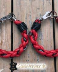 Hundehalsband-rund-Leder-Rot-Schwarz-1