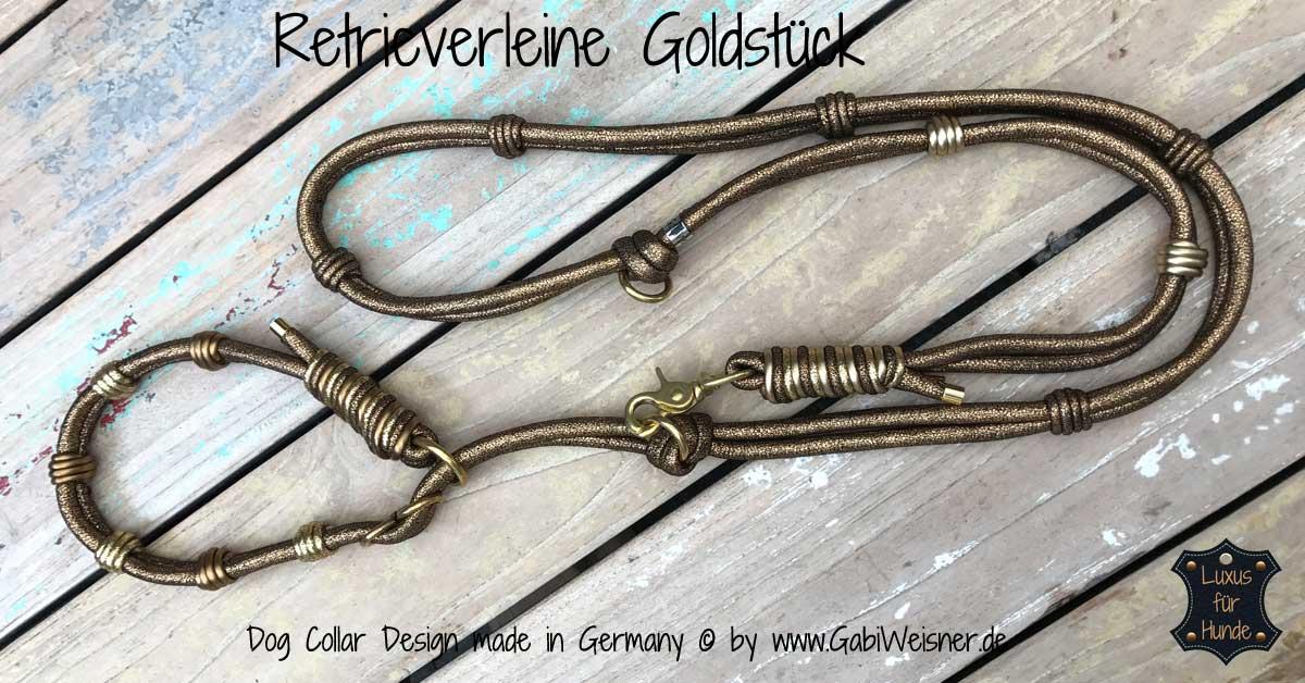 Retrieverleine Goldstueck