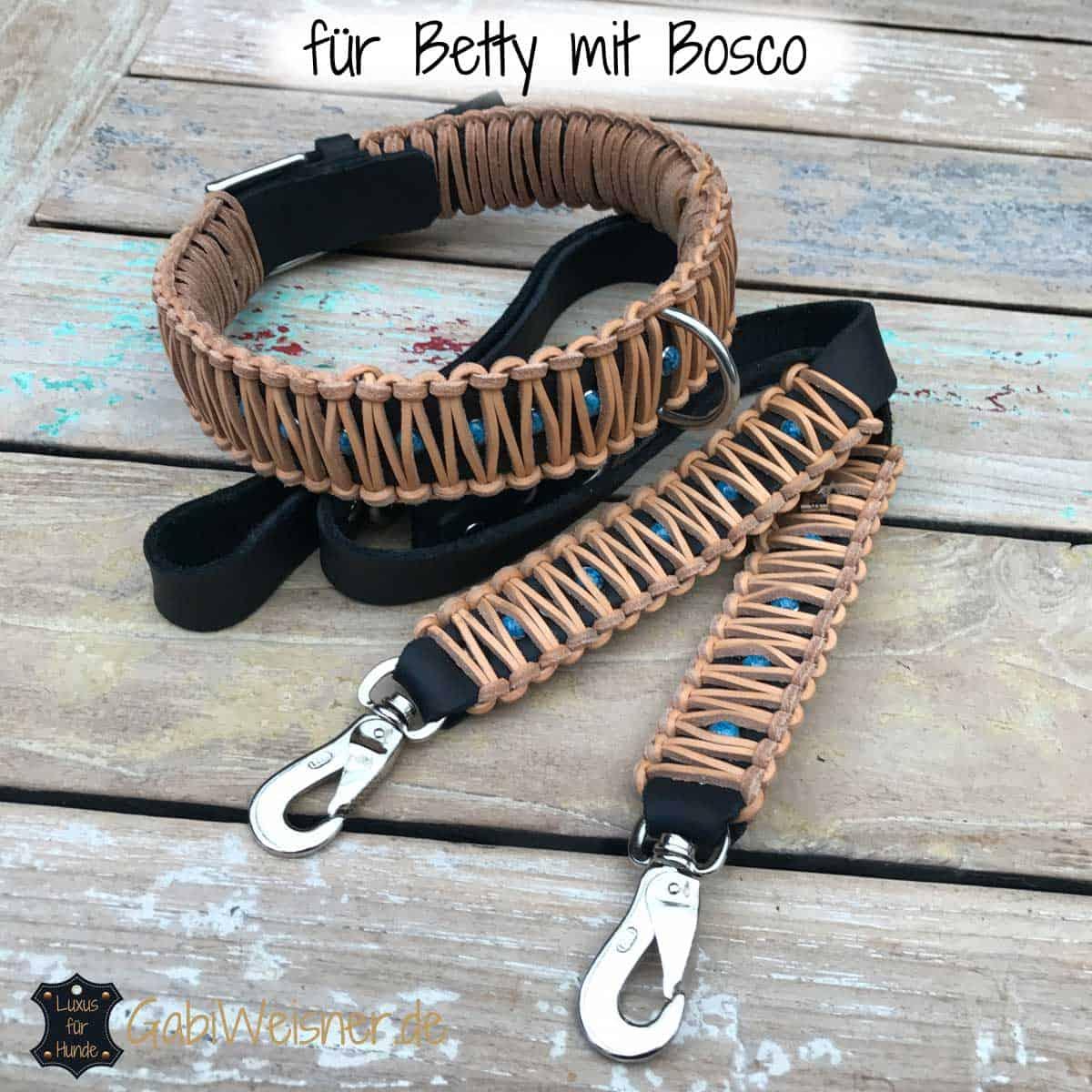 Hundehalsband Leder 5 cm breit BIS 65 cm