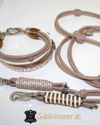 Halsband und Leine im SET Luxus für kleine Hunde
