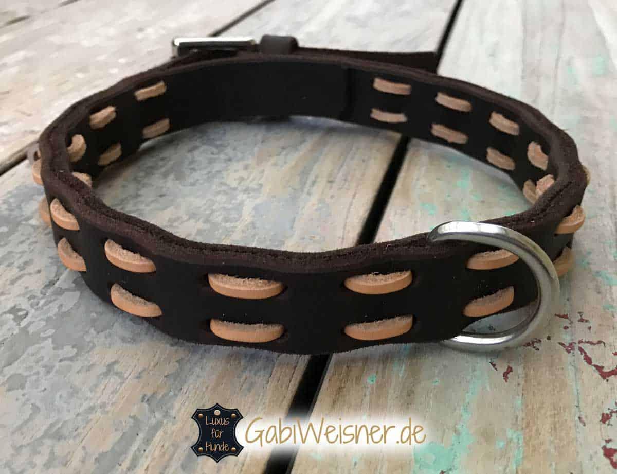 Hundehalsband aus Fettleder in verschiedenen Breiten