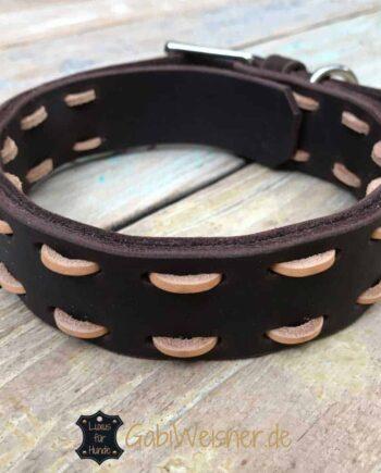 Hundehalsband aus Fettleder jede Breite und Farbe nach Wunsch