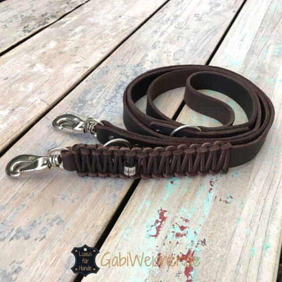 Hundeleine Fettleder 2,5 cm breit