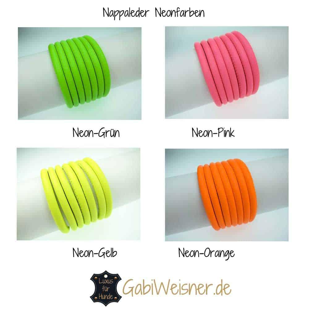 Nappaleder Neonfarben