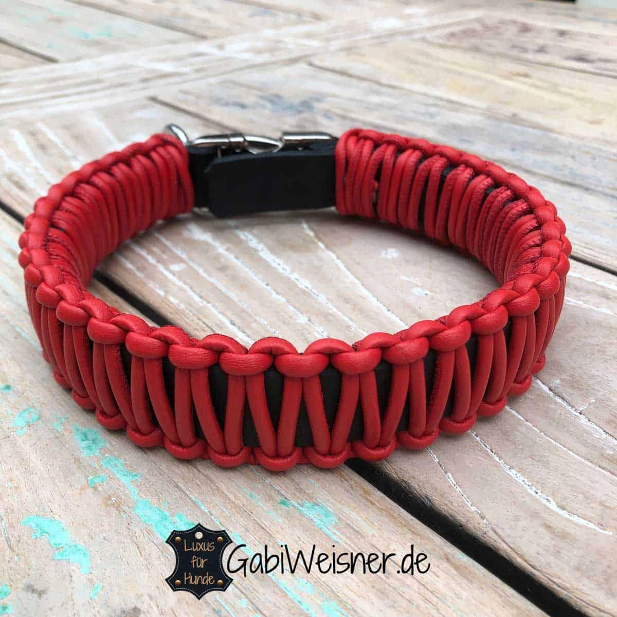 Lederhalsband mit Klickverschluss Farbe nach Wunsch