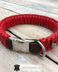 Lederhalsband-mit-Klickverschluss-Leder-Rot-1