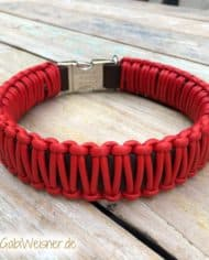 Lederhalsband-mit-Klickverschluss-Leder-Rot-2