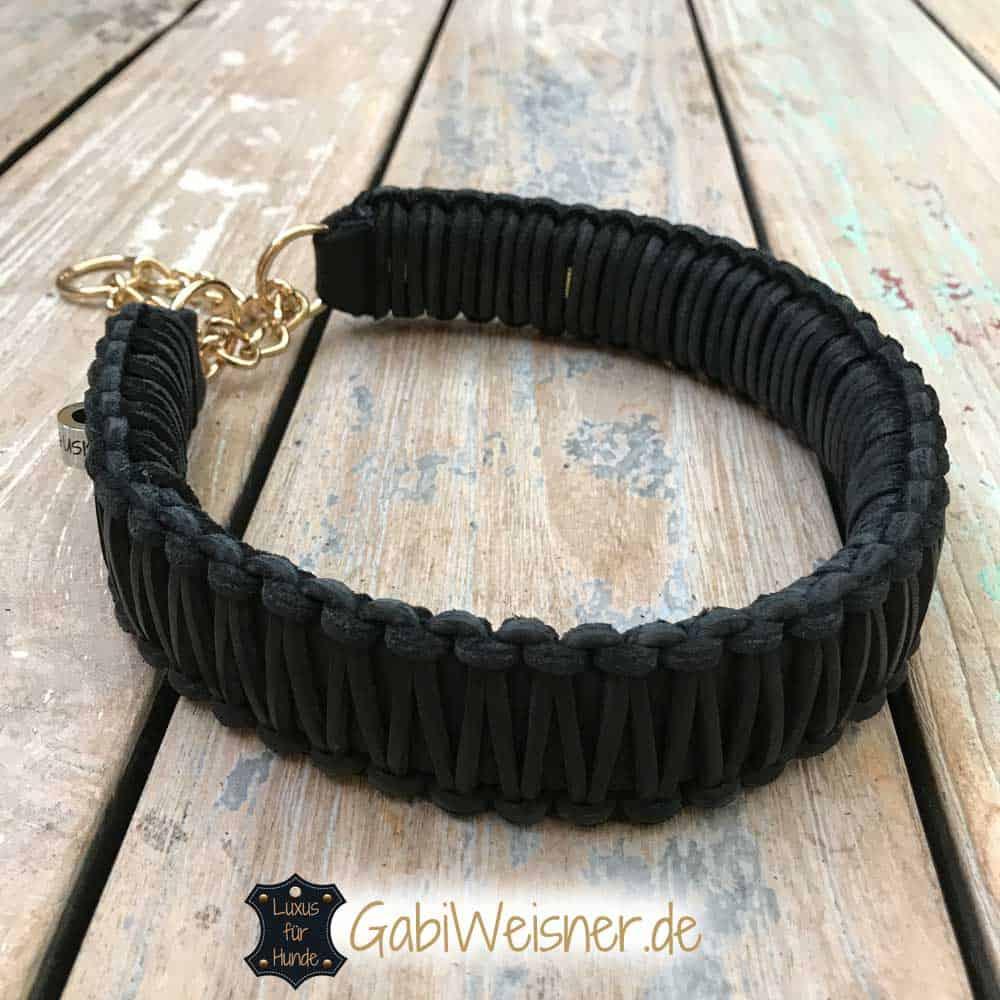 Hundehalsband Leder 4 cm breit