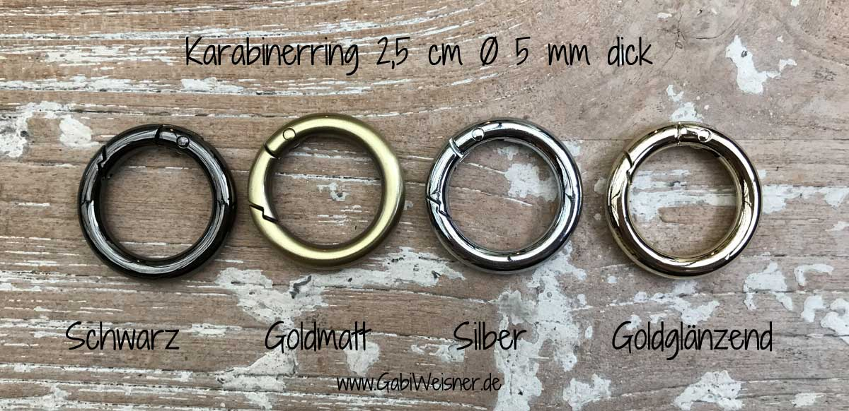Karabinerring 2,5 cm Ø 5 mm dick