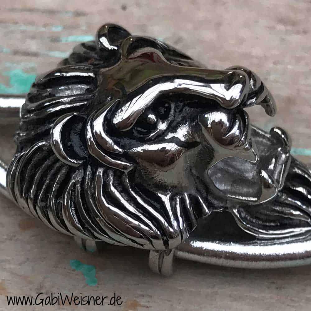 Löwenkopf Schlüsselanhänger