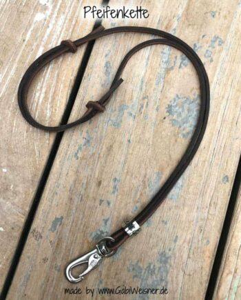 Pfeifenkette aus Leder in Braun
