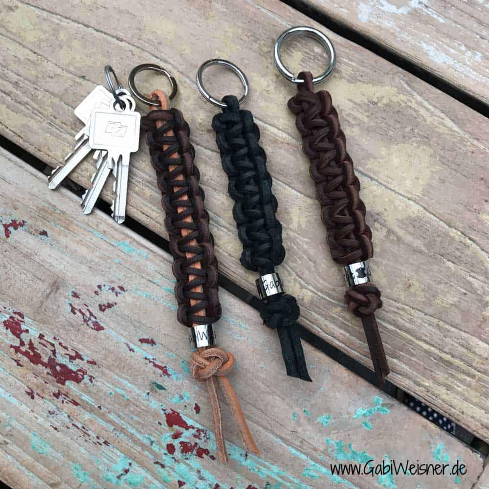 Schlüsselanhänger echt Leder in einer Farbe nach Wahl