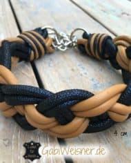 hundehalsband-leder-4-cm-breit-geflochten-cognac-blau-2