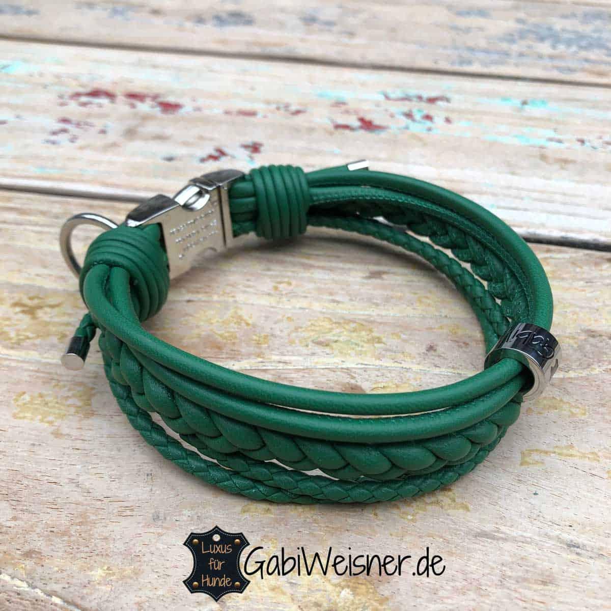 Mini Halsband Leder, jede Farbe ist möglich
