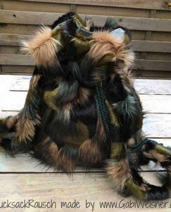 Rucksack Camouflage Fellimitat