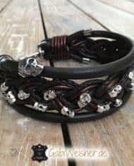 hundehalsband-leder-5-cm-breit-mit-vielen-totenkopfen-1