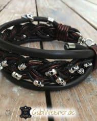 hundehalsband-leder-5-cm-breit-mit-vielen-totenkopfen-2