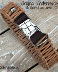 Original-Knotenhalsband-im-Retro-Look-Braun-natur-3-cm-breit