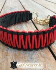 Hundehalsband-Leder-4-cm-breit-Zugstoppkette-2