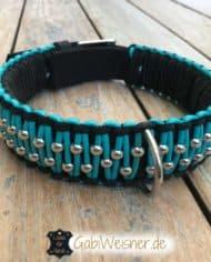 Hundehalsband-Leder-5-cm-breit-dekoriert-mit-viel-Edelstahl-1