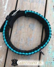 Hundehalsband-Leder-5-cm-breit-dekoriert-mit-viel-Edelstahl-2