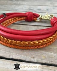Hundehalsband-Leder-Rot-Orange-im-Mix-1