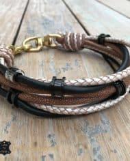 Hundehalsband-mit-Ohrtunnel-Schwarz-Beige-2