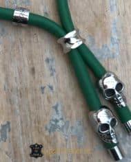 Lederkette-für-Hunde-8-mm-Nappaleder-bestückt-mit-Totenkopf-grün-2
