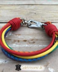 Hundehalsband-Regenbogen-3-cm-breit-Leder-7-Farben-Luxus-kleine-Hunde-Made-with-Love-in-Germany-2