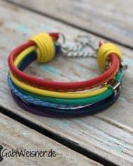 Mini-Hundehalsband-Regenbogen