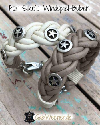 Hundehalsband aus Nappaleder geflochten