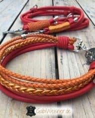 Halsband-und-Leine-Luxus-in-Rot-und-Orange-2
