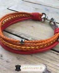Halsband-und-Leine-Luxus-in-Rot-und-Orange-3