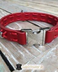 Hundehalsband-Leder-in-Rot-2