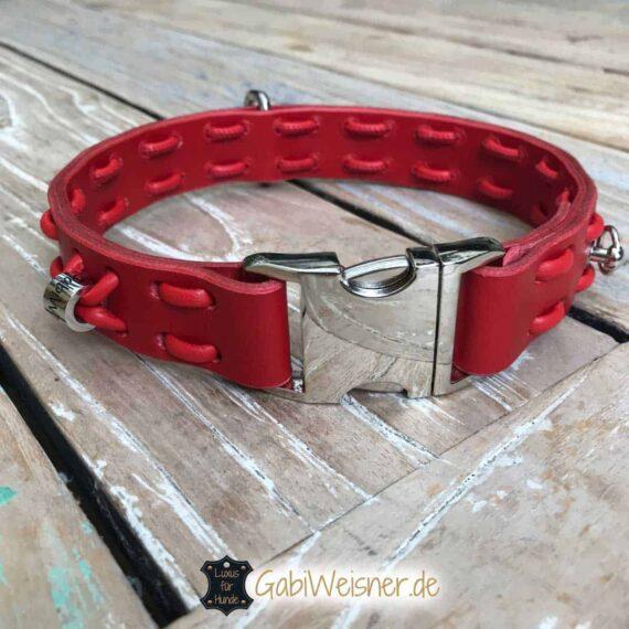 Halsband Leder in rot