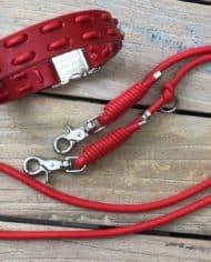 Hundehalsband-und-Leine-Leder-in-Rot-1