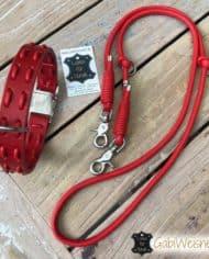 Hundehalsband-und-Leine-Leder-in-Rot-3