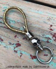 Schlüsselanhänger-Gold-Glitzer-mit-Skull