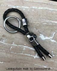 Schlüsselanhänger Leder und Edelstahl