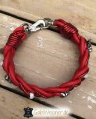 Hundehalsband-aus-Leder-in-Rot-mit-Skull-und-Strass-