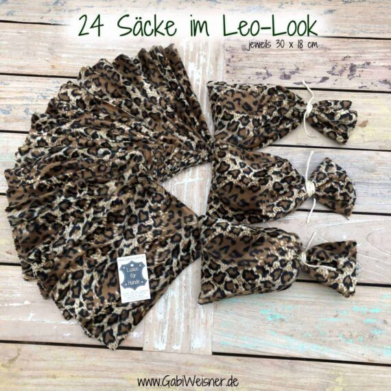 Adventkalender Säcke im Leo-Look