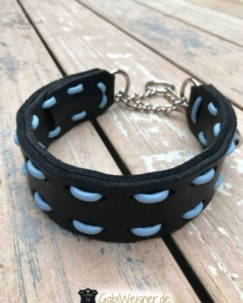 Hundehalsband aus Fettleder Farbe nach Wunsch