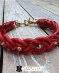 Hundehalsband-weihnachtlich-in-Rot-mit-Strass-in-Gold-1