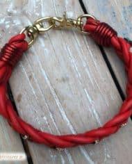 Hundehalsband-weihnachtlich-in-Rot-mit-Strass-in-Gold-2